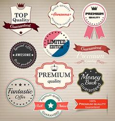 prenium quality labels vector image vector image