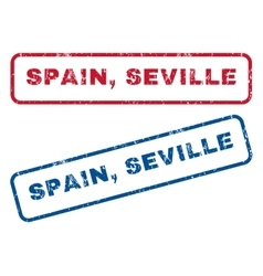 Spain Seville Rubber Stamps vector image vector image