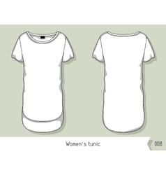 Women tunic Template for design easily editable vector image vector image