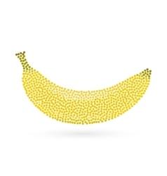 Abstract creative concept icon of banana vector