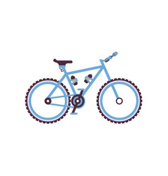 blue hardtail bike modern bicycle vector image vector image