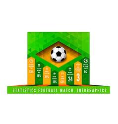 Brasil Flag Triangle info vector image
