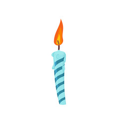 candle birthday cake festive blue candle isolated vector image vector image
