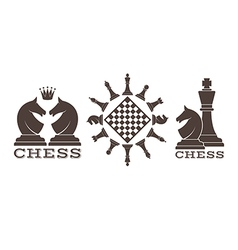 Chess Emblem vector image vector image