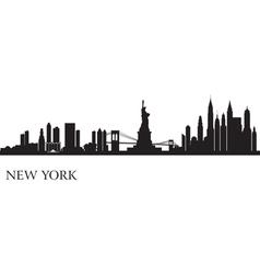 New york city skyline silhouette background vector