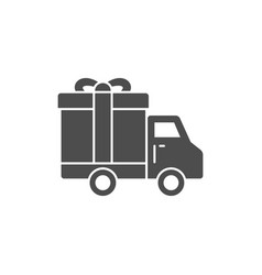truck delivey gift box icon vector image vector image