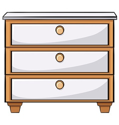 Wooden drawers vector image vector image