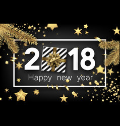 2018 new year background with gift vector image
