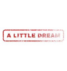a little dream rubber stamp vector image