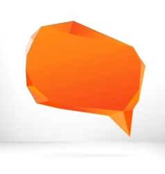 Abstract origami speech bubble EPS8 vector