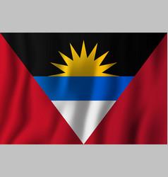 antigua and barbuda realistic waving flag vector image