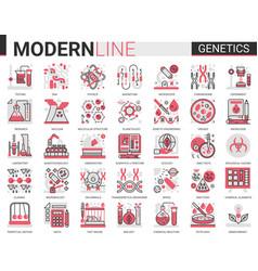 biochemistry genetics engineering modification vector image