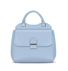 Blue female handbag vector