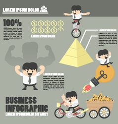 Business Infographicssuccess vector image