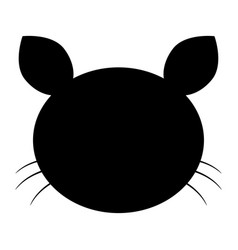 cat head the black color icon vector image