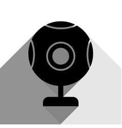 chat web camera sign black icon with two vector image