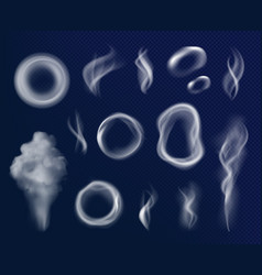 cigarettes smoke circles gray flowing steam vector image