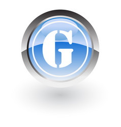 circle letter g icon logo vector image