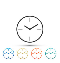 clock icon isolated on white background vector image