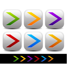 Colorful sharp arrowheads pointing right vector