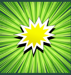 comic book page green concept vector image