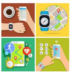 Concept smart watch vector