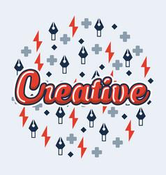 Creative idea card vector