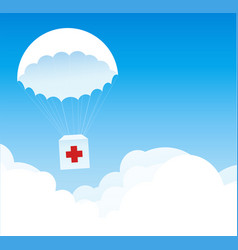 delivery service medical goods and supplies vector image