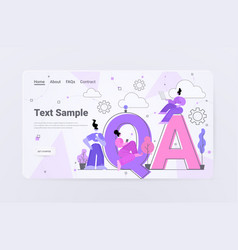 developers testing software app qa quality vector image