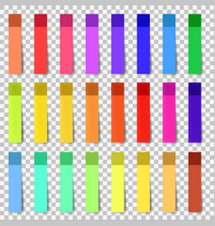 different colored sheets of note stickers vector image
