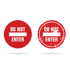 Do not enter sign red vector