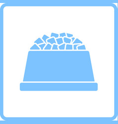dog food bowl icon vector image
