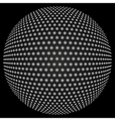 Dotted halftone sphere vector image