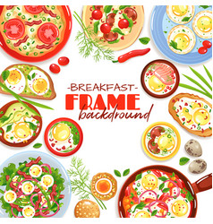 egg dishes frame background vector image