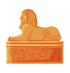 Egyptian sphinx statue side view symbol egypt vector