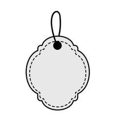 Figure decoration label design ornament vector