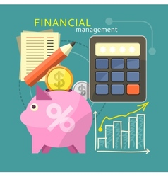 Financial management concept vector