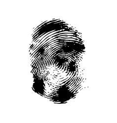 Fingerprint on a white background vector image