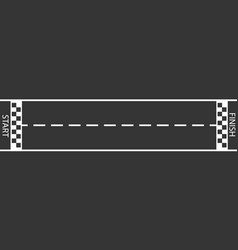 finish line racing background top view vector image