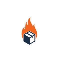 fire box logo icon design vector image