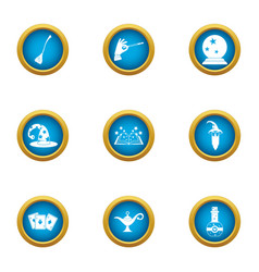 Fortuneteller icons set flat style vector