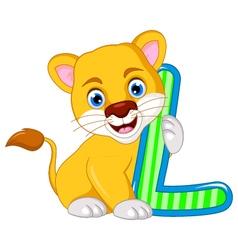 funny lion cartoon posing vector image