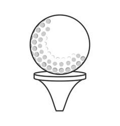 Golf tee and ball icon vector