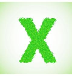 Grass letter X vector