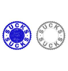 Grunge sucks scratched stamp seals vector