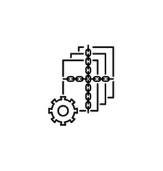 hacker lock icon on white background can be used vector image