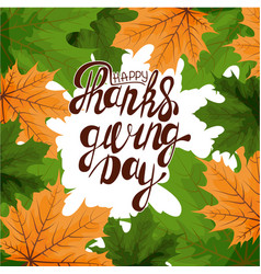 happy thanksgiving card hand drawn celebration vector image
