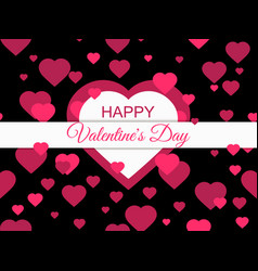 happy valentines day 14 february greeting card vector image