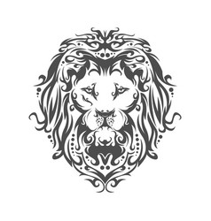 head a lion in an ornament vector image