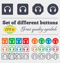headsets icon sign Big set of colorful diverse vector image